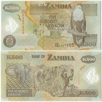 Picture of Zambia 500 kwacha 2003 Plastic P43 Unc