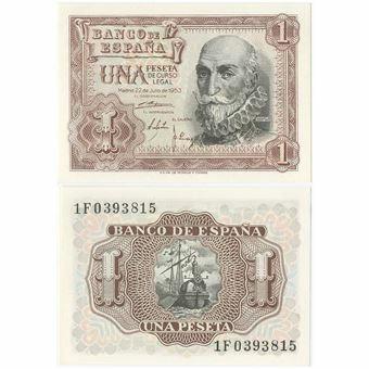 Picture of Spain, 1 Peseta 1953 P144 Unc