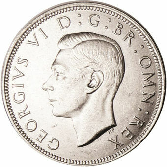 Picture of George VI, Halfcrown 1944 Choice Uncirculated