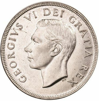 Picture of Canada 1952 Silver Dollar Unc