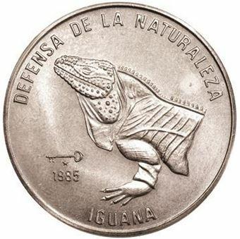 Picture of Cuba, 1 Peso 1985 Iguana Head CN