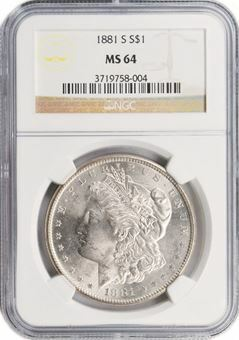 Picture of United States of America, US Morgan $ 'S' Mint Mark MS64