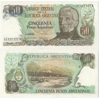 Picture of Argentina  50 Pesos Argentinos P314 Unc