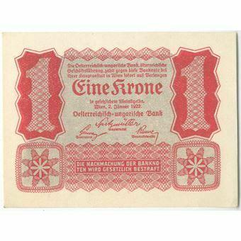 Picture of Austria 1 krone 1922 P73