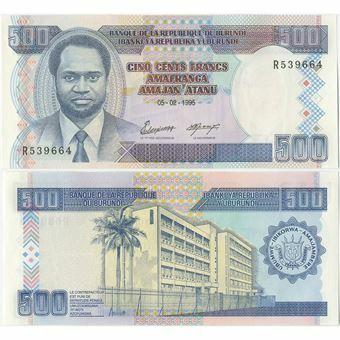 Picture of Burundi 500 Francs 1995 P37A Unc