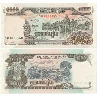 Picture of Cambodia 1000 rials 1999 P51 Unc