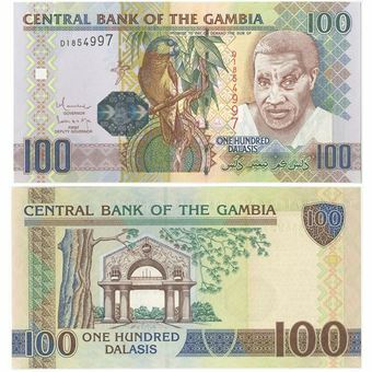 Picture of Gambia 100 Dalasis nd P29 Hologram Unc