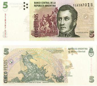 Picture of Argentina 5 Pesos P353 Unc