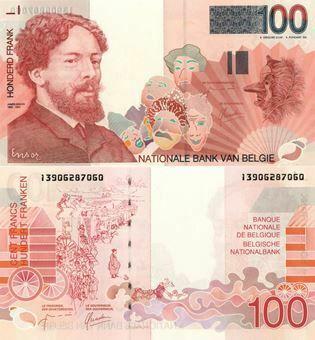 Picture of Belgium 100 Francs nd P147 Unc