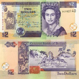 Picture of Belize 2 Dollars P66 Unc