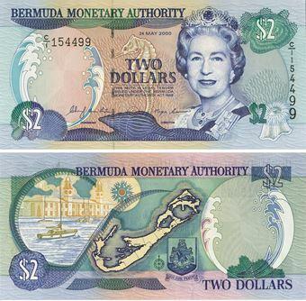 Picture of Bermuda 2 Dollars 2000 P50 Unc