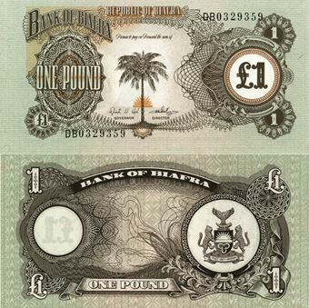 Picture of Biafra £1 P5a Unc