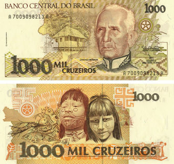 Picture of Brazil 1000 Cruzeiros P231 Unc