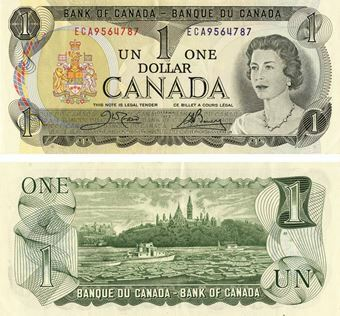 Picture of Canada 1 dollar 1973 P85 Unc