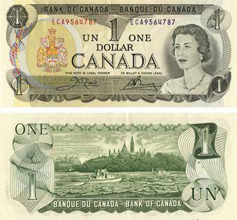 Picture of Canada 1 dollar 1973 P85 Unc