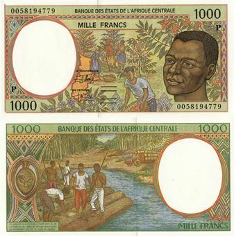 Picture of Chad (Centr Afr States) 1000 Francs (2000) P602Pg  Unc