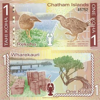 Picture of Chatham Islands 1 Koha  Plastic