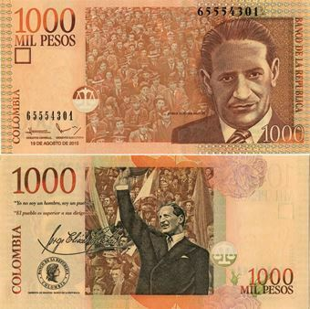 Picture of Colombia 1000 Pesos 2005 P456 Unc