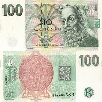 Picture of Czech Republic 100 korun 1997 P18 Unc
