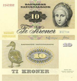 Picture of Denmark 10 Kroner P48 Unc