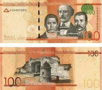 Picture of Dominican Republic 100 Pesos Dominicanos 2014 P190 Unc