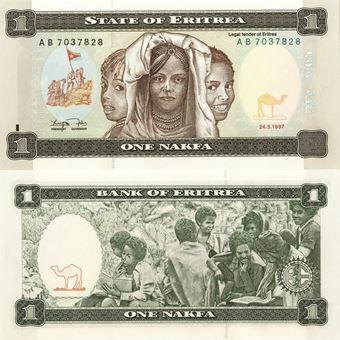 Picture of Eritrea 1 Nakfa 1997 P1 Unc