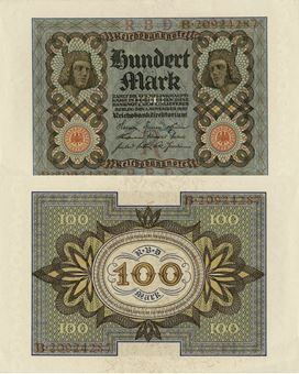 Picture of Germany 100 marks 1920 P69 Unc