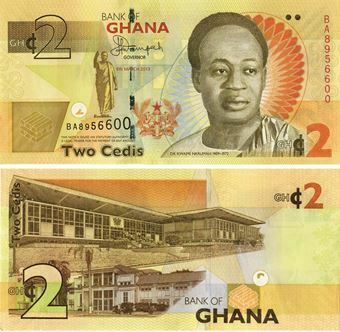 Picture of Ghana 2 Cedis P37A Unc