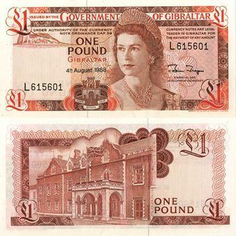 Picture of Gibraltar £1 1988 P20e Unc