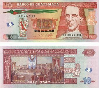 Picture of Guatemala 10 Quetzales 2013 P117 Unc