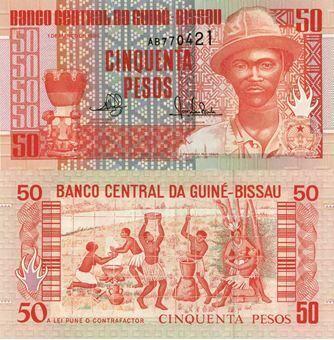 Picture of Guinea Bissau 50 pesos P10 Unc