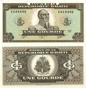 Picture of Haiti 1 Gourde 1989 P253 Unc