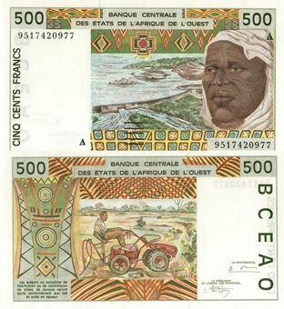 Picture of Ivory Coast 500 Francs P110A Unc