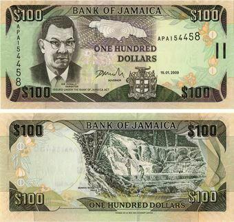 Picture of Jamaica 100 Dollars 2009 P84 Unc