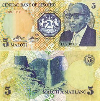 Picture of Lesotho 5 Maloti 1989 P10a Unc