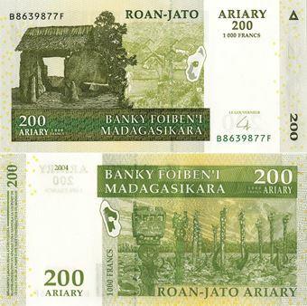 Picture of Madagascar 200 Ariary P87 Unc