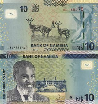 Namibia 10 Dollars Nd P16 Unc