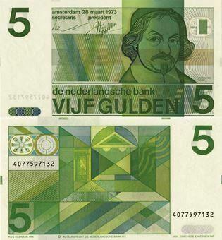 Netherlands 5 Gulden 1973 P95 Unc
