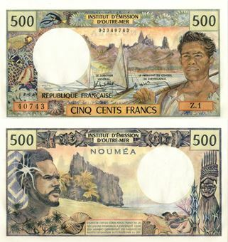 Picture of New Caledonia 500 Francs P60d Unc