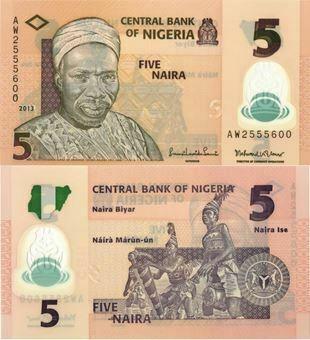 Picture of Nigeria 5 Naira P32b Plastic Unc