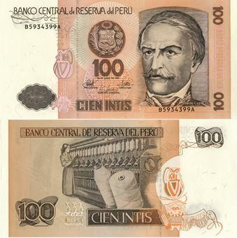 Picture of Peru 100 Intis 1987 P133 Unc