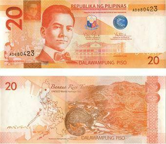 Picture of Philippines 20 Pisos 2010 P206 Unc