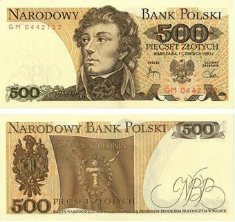 Picture of Poland 500 Zlotych P145 Unc