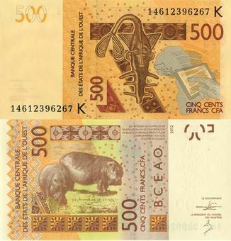 Picture of Senegal (W African States) 500 Francs 2012 P719K