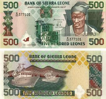 Picture of Sierra Leone  500 Leones 1998 P23 Unc