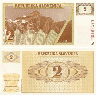 Picture of Slovenia 2 Tolarjev 1990 P2 Unc