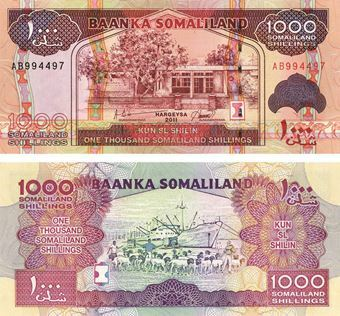 Picture of Somaliland 1000 Shillings 2011 P20 Unc