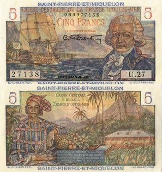 Picture of St Pierre et Miquelon 5 Francs P22 Unc