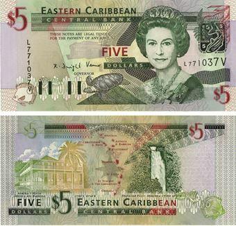 Picture of St Vincent (ECCA) 5 Dollars P42v Unc