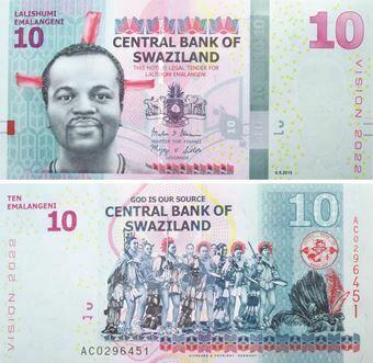 Picture of Swaziland 10 Emalangeni 2015  P41 Unc